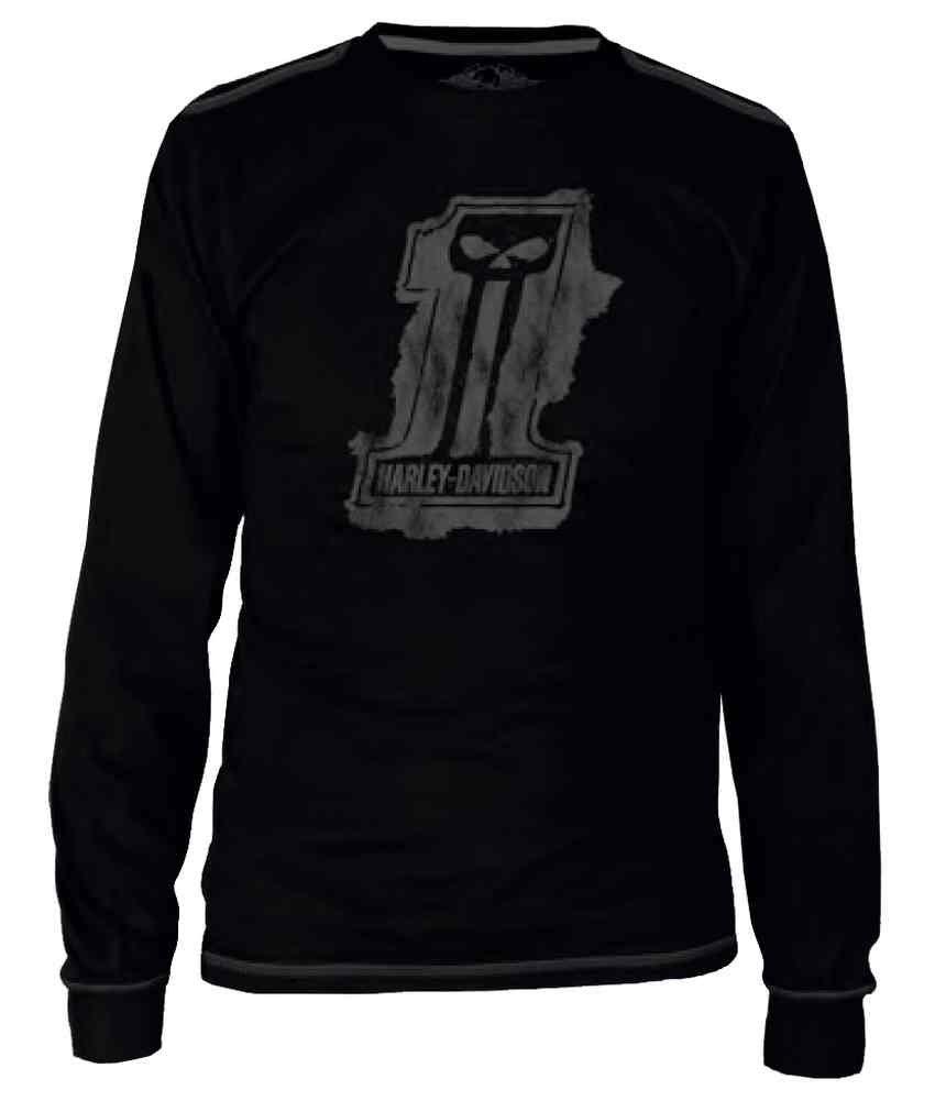 Harley-Davidson Men's Blk Label Splat Long Sleeve T-Shirt - Blk 30291524 (3XL)