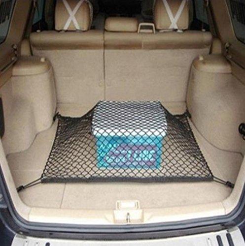 Noir AHIMITSU 120/x 100/cm en Nylon Coffre de Voiture Cargo Net Flexible Bagage Bagages Filet de Rangement