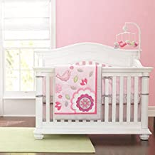Pink Bird 7pcs crib set Baby Bedding Set Crib Bedding Set Girl Nursery Crib Bumper bedding
