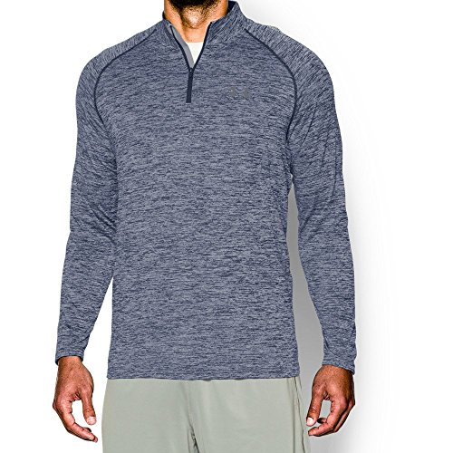 Under Armour Mens Tech 1 4 Zip  Academy Steel  Medium