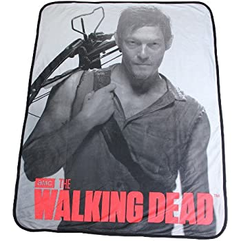 "The Walking Dead Daryl Dixon Soft Fleece Throw Blanket 46"" x 60"""