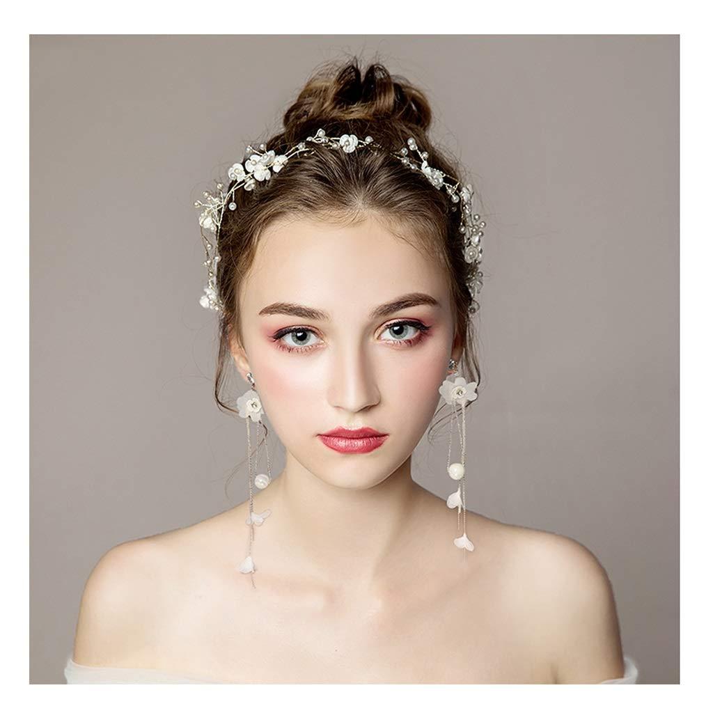 Wreath Flower Bride Tiara Handmade Garland Hair Band Hair Rope Dress Wedding Dress Accessories