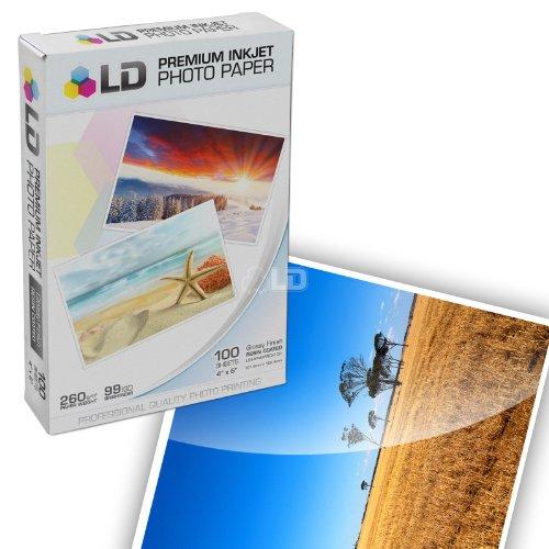 LD Premium Glossy Inkjet Photo Paper - 4 in x 6 in (White, 100-Pack)