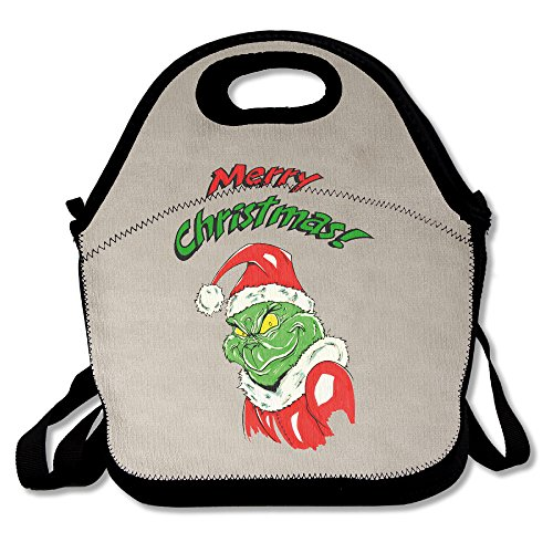 HJZN SUGER Grinch Christmas Story Clipart Tote Bag Multifunction Waterproof Handbag Lunch Tote (Clip Lights Christmas Art)