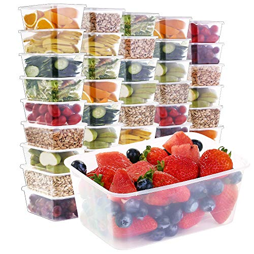 33oz Meal Prep Containers [50 Pack]