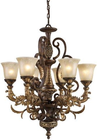 Elk Lighting Regency 6-Light Chandelier, Burnt Bronze