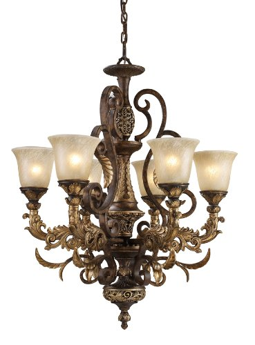 (Elk 2163/6 6-Light Chandelier in Burnt Bronze)