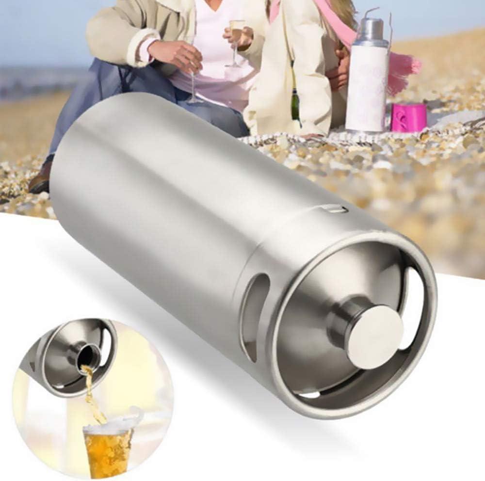 OTENGD Mini Barril, fácil Almacenamiento, dispensador de Cerveza, dispensador portátil de Mini Barril de 140 oz, se Adapta a Cerveza Artesanal, Barril y Cerveza casera, para elaboración casera