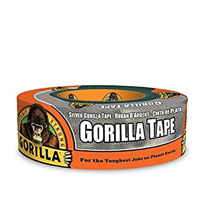 """Gorilla Tape, Silver Duct Tape, 1.88"""" x 35 yd, Silver, (Pack of 1)"""