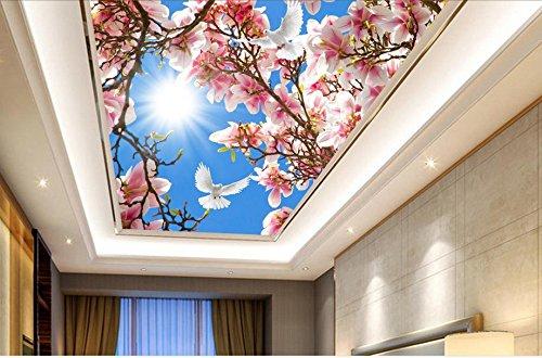 Lwcx Custom Ceiling 3D Wallpaper Sky Peach Butterfly In The Living Room Ceiling Luxury Wallpaper F 350X245CM by LWCX (Image #3)