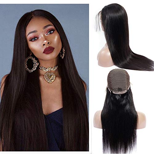 Straight Wave 13x4 Lace Front Human Hair Wigs 130% Density Pre Plucked Hairline With Baby Hair Glueless Short Wigs For Black Women On Sale Brazilian Virgin Hair Sew In Human Hair Extension 1b(14Inch)