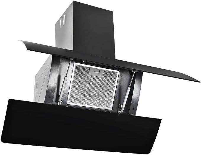 xinglieu campana en la pared de acero inoxidable 756 M3/h 90 cm negra filtro campana extractora cocina campana: Amazon.es: Grandes electrodomésticos