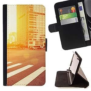 Momo Phone Case / Flip Funda de Cuero Case Cover - Resplandor de la calle;;;;;;;; - Samsung Galaxy E5 E500