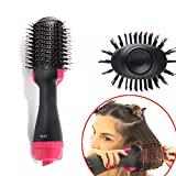 One Step Hair Dryer Volumizer Styler, ManKami Salon Hot Air Paddle Styling Brush Negative Ion Generator Hair Straightener Curler for All Hair Types