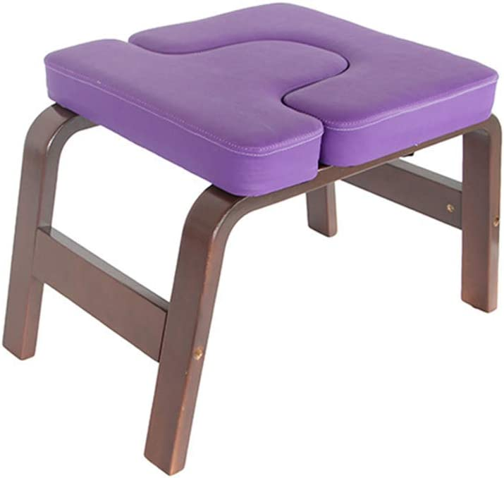 Home fitness Equipment Relieve Fatigue and Shape The Body Gym MATTE Yoga Headstand Bench Yoga Inversion Chair Stool Handstand with PU Pads for Family