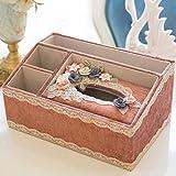 LaaLaa Tissue Holder Box,Multifunction Multicolor tissue box,Cloth art Flowers Book box desktop remote control Storage basket,bath accessories tissue box,E4
