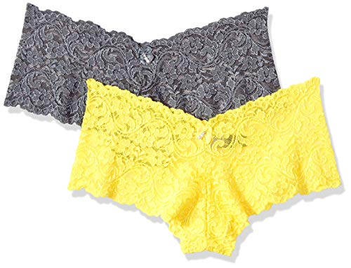 Smart & Sexy Women's 2-Pack Boyleg, Cabana Banana/Anthracite, 7 (Yellow Womens Underwear)