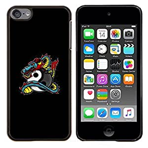 "Planetar® ( Dragon Tattoo Graffiti Negro Yin Yang"" ) iPod Touch 6 Fundas Cover Cubre Hard Case Cover"
