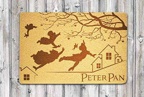 Peter Pan Doormat Peter Pan and Wendy Doormat Peter Pan Door Mat Peter Pan Disney Housewarming or Birthday or Easter for Boys and Girls Kids and Teens Children and Youth