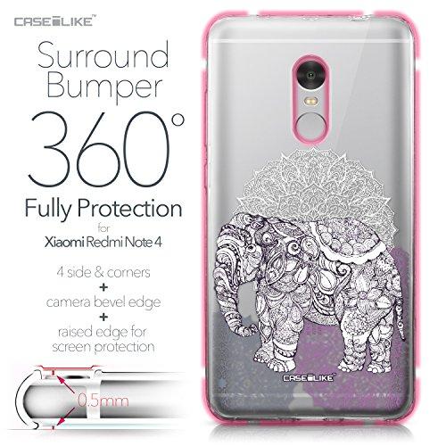 CASEiLIKE Funda Mi A1 , Carcasa Xiaomi Mi A1, Búho diseño gráfico 3318, TPU Gel silicone protectora cover Arte de la mandala 2301