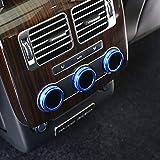 for Land Rover Range Rover Vogue L405 2014-2017 Car Aluminum Alloy Rear Air Conditioning Knob Audio Circle Trim (Blue)