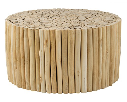 Natural Wood Round Coffee Table - East at Main UU-SY-PL301-NT Octavia Coffee Table, 31