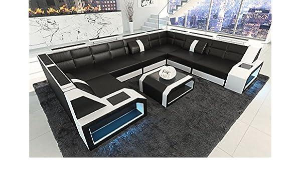 Sofa Dreams Piel Salón Paisaje Pesaro U Forma de Negro ...