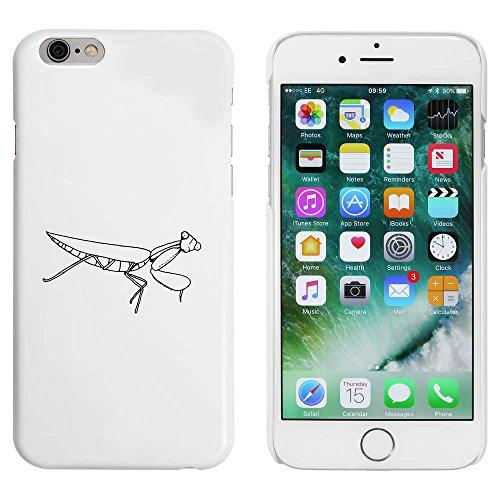 Weiß 'Gottesanbeterin' Hülle für iPhone 6 u. 6s (MC00050054)
