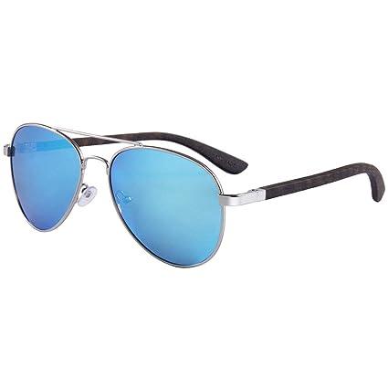 Gafas sol Polarizadas Marco de Madera del Brazo de Bambú de La Moda, Protección Ultravioleta