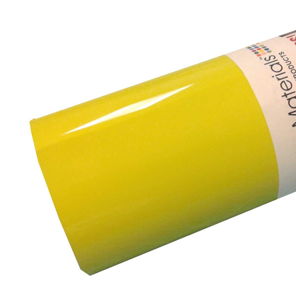 ThermoFlex Plus 15'' x 10' Roll Lemon Yellow Heat Transfer Vinyl
