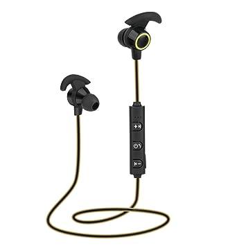 Auriculares inalámbricos Bluetooth V4.1, auriculares estéreo deportivos, intraurales, con micrófono, para smartphones, de Rcool mini amarillo: Amazon.es: ...