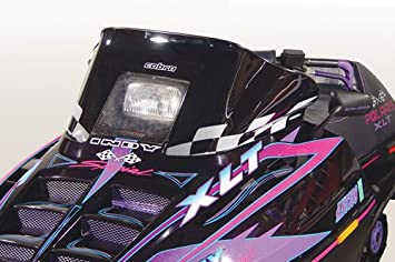 PowerMadd 11131 Cobra Windshield for Polaris Indy - Tint with purple checkers - Mid height