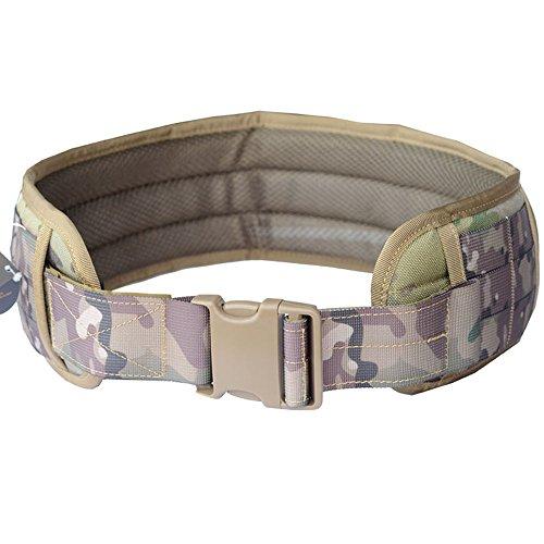 Padded Waist Belt (Tactical Padded Patrol Belt Tactical Molle Waist Band (CP Multicam, L))