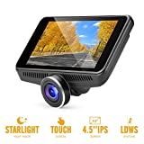 OldShark G16 Car Camera - Dash Cam with 4.5'' IPS Touch Screen, Real Starlight Night Vision Dashboard Cam 1080P FHD 170 Wide-Angle Car DVR Recorder with ADAS, G-Sensor, WDR, Dashcams for Car and Trucks