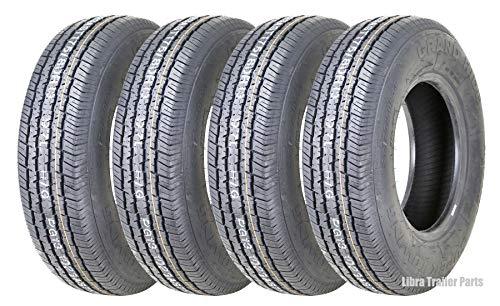 4 New Grand Ride Premium Trailer Tires ST 175/80R13 8PR Load Range D - 11012 ...