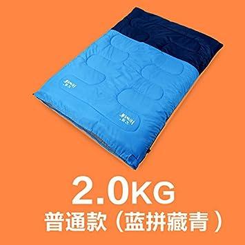SUHAGN Saco de dormir Sacos De Dormir Doble De Grueso Otoño Invierno Cálido Interior Exterior Bolsas