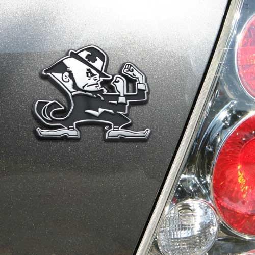 Notre Dame Tailgater - NCAA Notre Dame Fighting Irish Chrome Irishman Auto Emblem