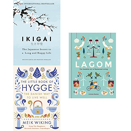 Book cover from Ikigai, little book of hygge and lagom the swedish art of balanced living 3 books collection setHéctor García by Francesc Miralles Héctor García