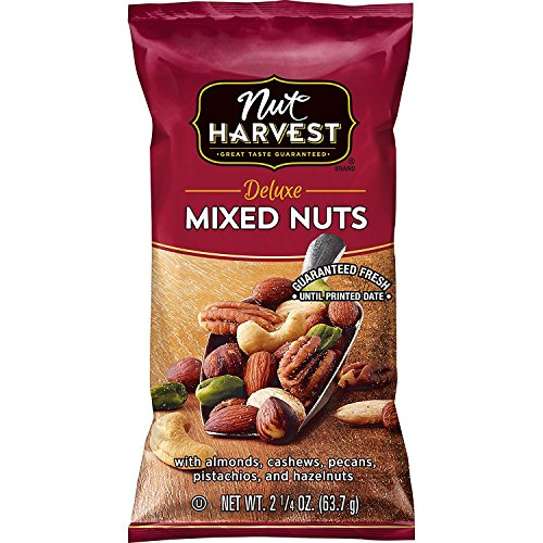Nut Harvest Deluxe Mixed Nuts, 2.25 Ounce (Pack of 16) (Planters Mixed Nuts 56 Oz)