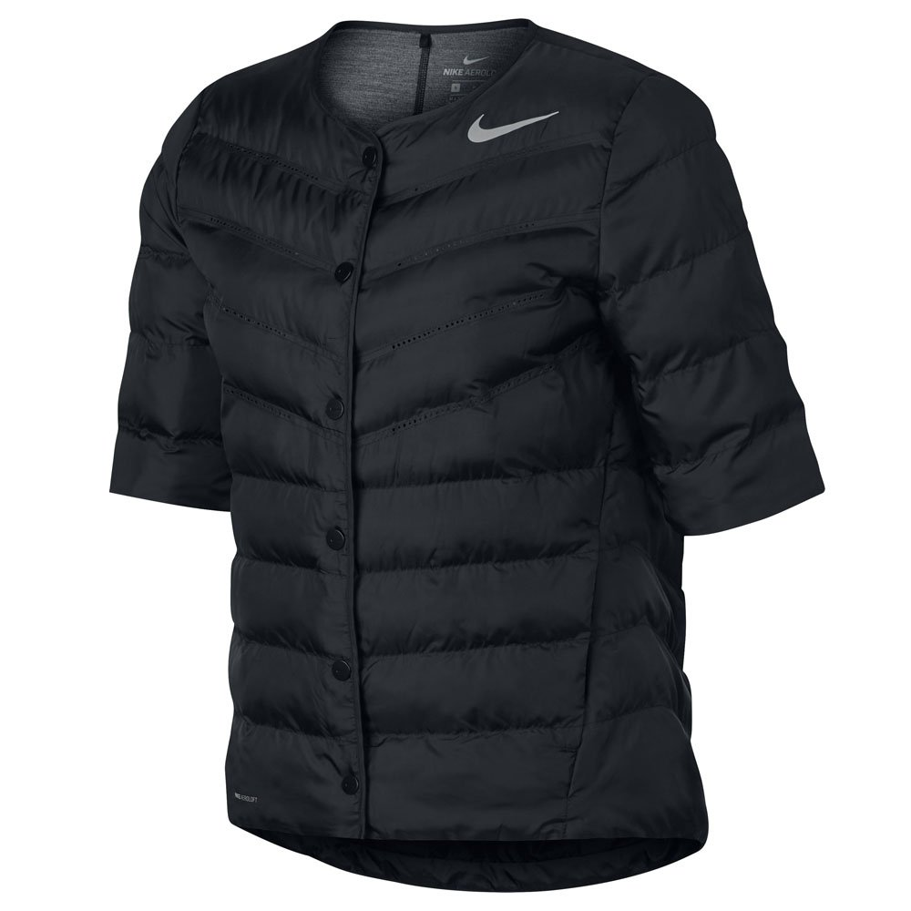 Nike AeroLoft Half Sleeve Golf Jacket 2017 Women Black/Metallic Silver Medium by Nike