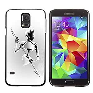 GagaDesign Phone Accessories: Hard Case Cover for Samsung Galaxy S5 - White Warrior