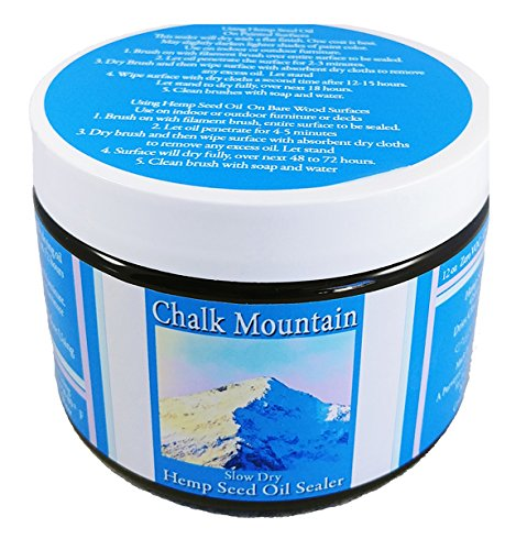 Chalk Mountain Brushes - Hemp Seed Oil Furniture Sealer - Seals and Protects Chalk, and Milk Paint, Furniture, Wood, and much much More! (Hemp Wood)