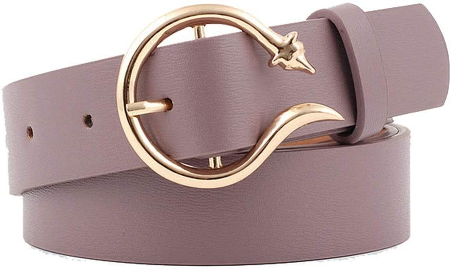 Color : White, Size : Free Size Afdgsjyu Womens Belt Skinny Leather Ladies Belt for Jeans Womens Leather Reversible Belts Leather Belts