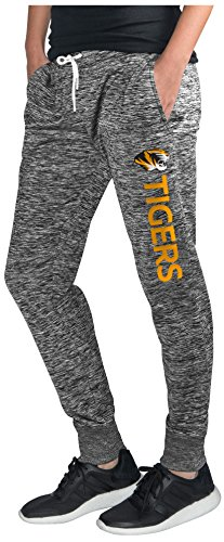 (GIII For Her NCAA Missouri Tigers Women's Sideline Skinny Pants, Small, Heather Grey)