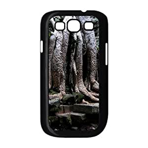 Samsung Galaxy S3 Case Shock Absorb Angkor Wat Temple Cambodia, Temple Samsung Galaxy S 3 Case Women [Black]