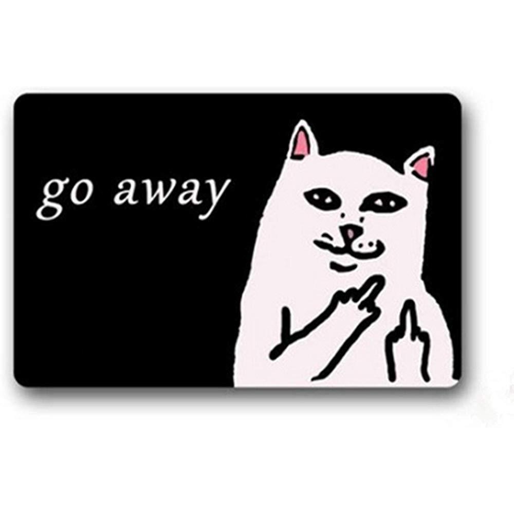 N/A Tapete De Baño Custom Go Away Cat Felpudo Puerta ...
