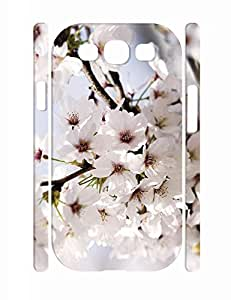 Creative Lovely Flower Print Slim Cell Phone Skin Case for Samsung Galaxy S3 I9300