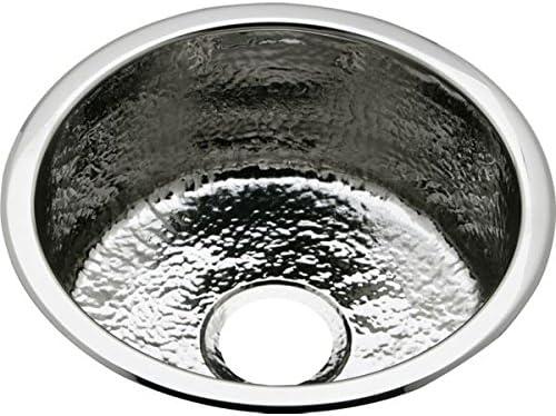 18 Gauge Stainless Steel 16.375 X 16.375 X 7 Single Bowl Dual Mount Bar Sink