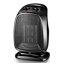 Space heater personal heater fan,Electric oscillating heater home office indoor adjustable thermostat tabletop-B 18x13x28cm(7x5x11)