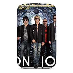 Shock-Absorbing Hard Phone Cover For Samsung Galaxy S3 With Provide Private Custom Lifelike Bon Jovi Pattern VIVIENRowland